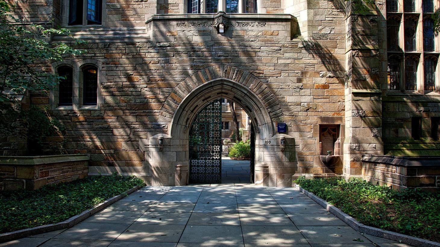 Gates to Yale University.