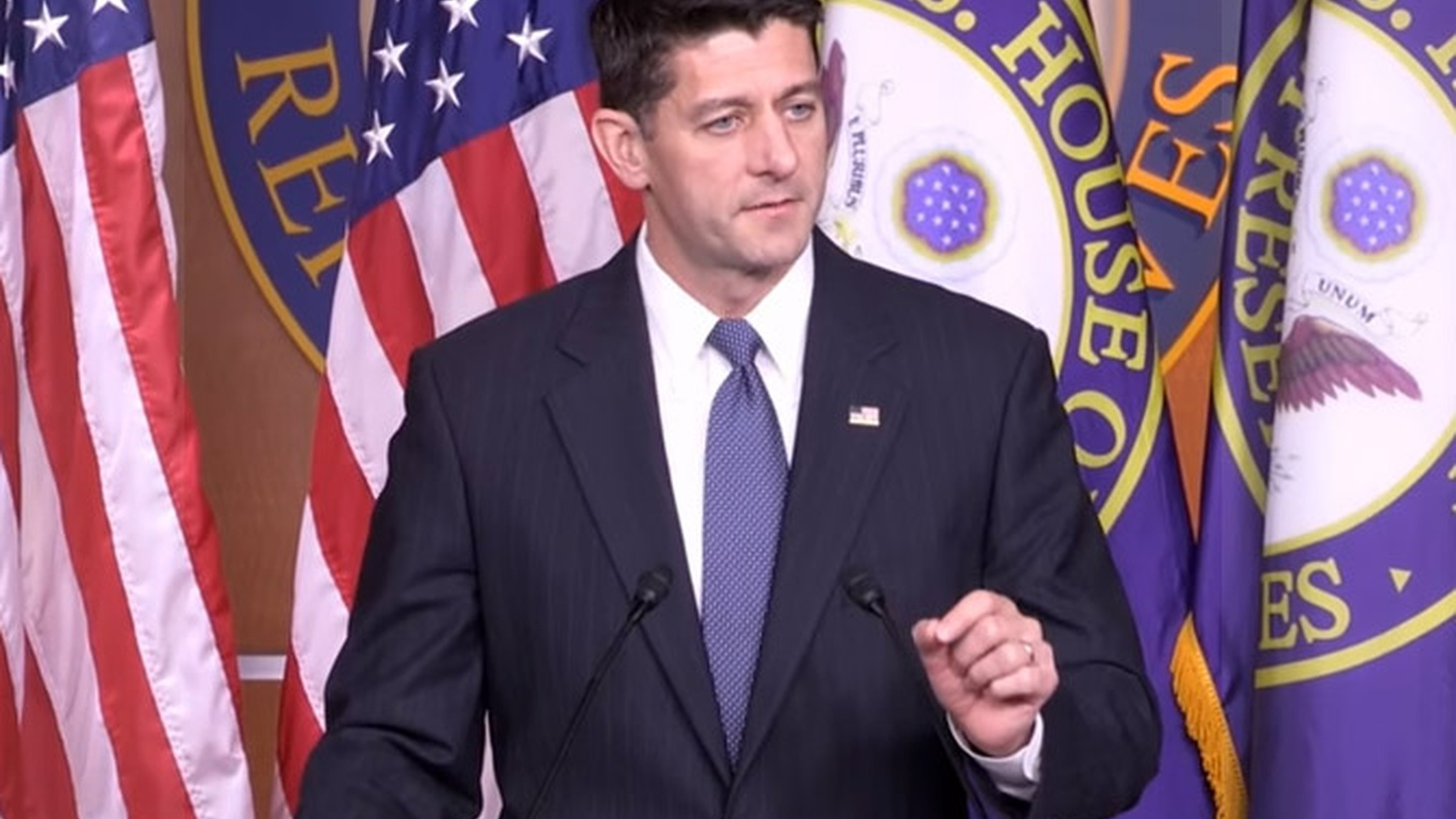 The House passed a budget today already approved by the Senate. If the President signs off, it will pave the way to consideration of massive tax cuts. But Speaker Paul Ryan declined to provide any details.