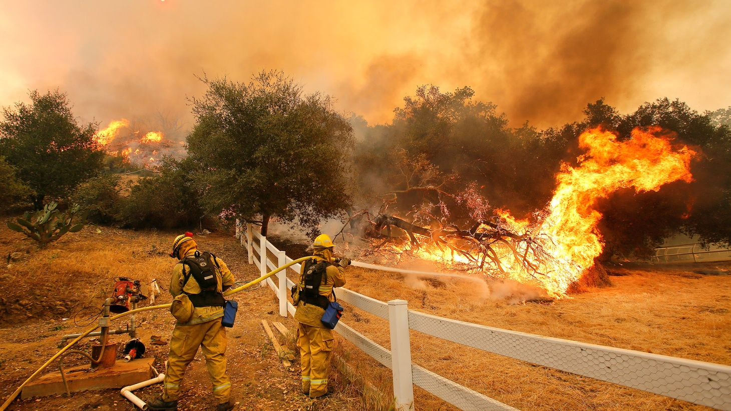 Interior Secretary Ryan Zinke has admitted that climate change is a factor in this year's massive wildfires. But President Trump continues pushing a disinformation campaign.