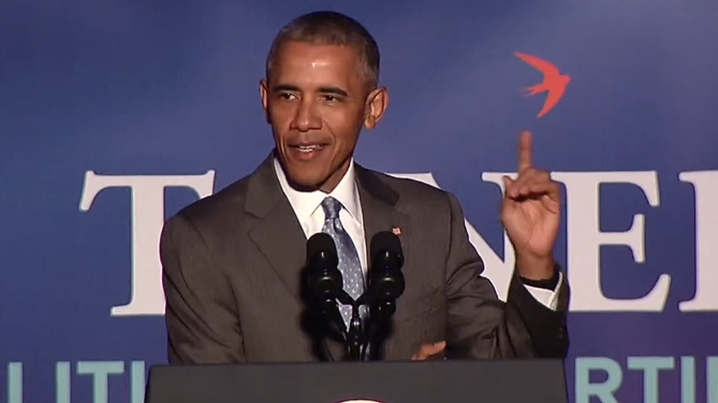 During every presidency, relations between the news media and the White House are subject to strain. At an awards dinner for political reporters last night, President Obama had some  pointed comments  about the current state of journalism -- especially when it comes to this year's presidential campaign. We hear the latest example.