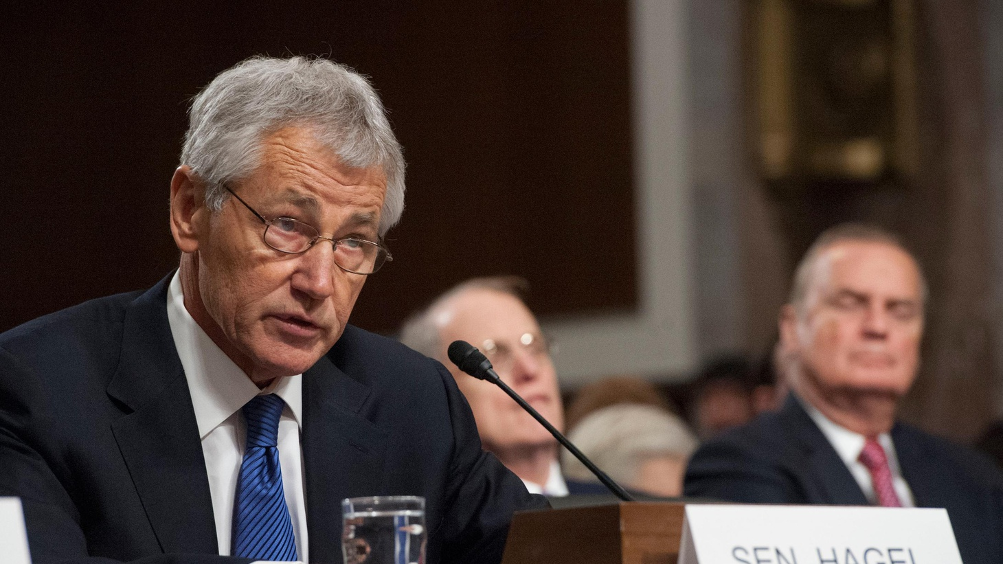 Chuck Hagel is President Obama's choice to be Secretary of Defense. At his Senate confirmation hearing today, he got a grilling — especially from former Republican colleagues.