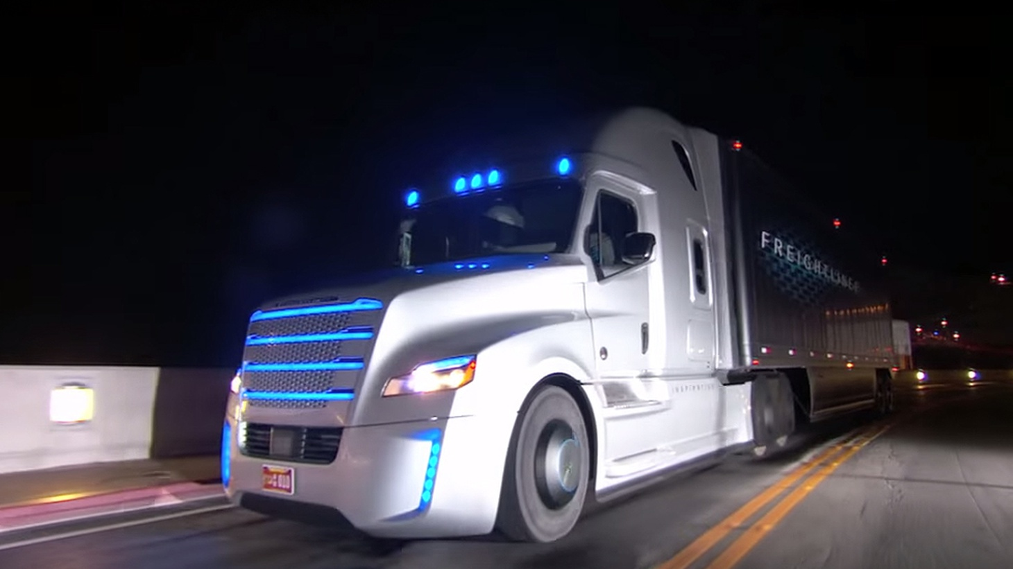 """The spotlight on self-driving vehicles has been focused on Google and other companies that are automating four-door sedans. That's because """"trucks aren't sexy."""" But they're critical to the economy."""