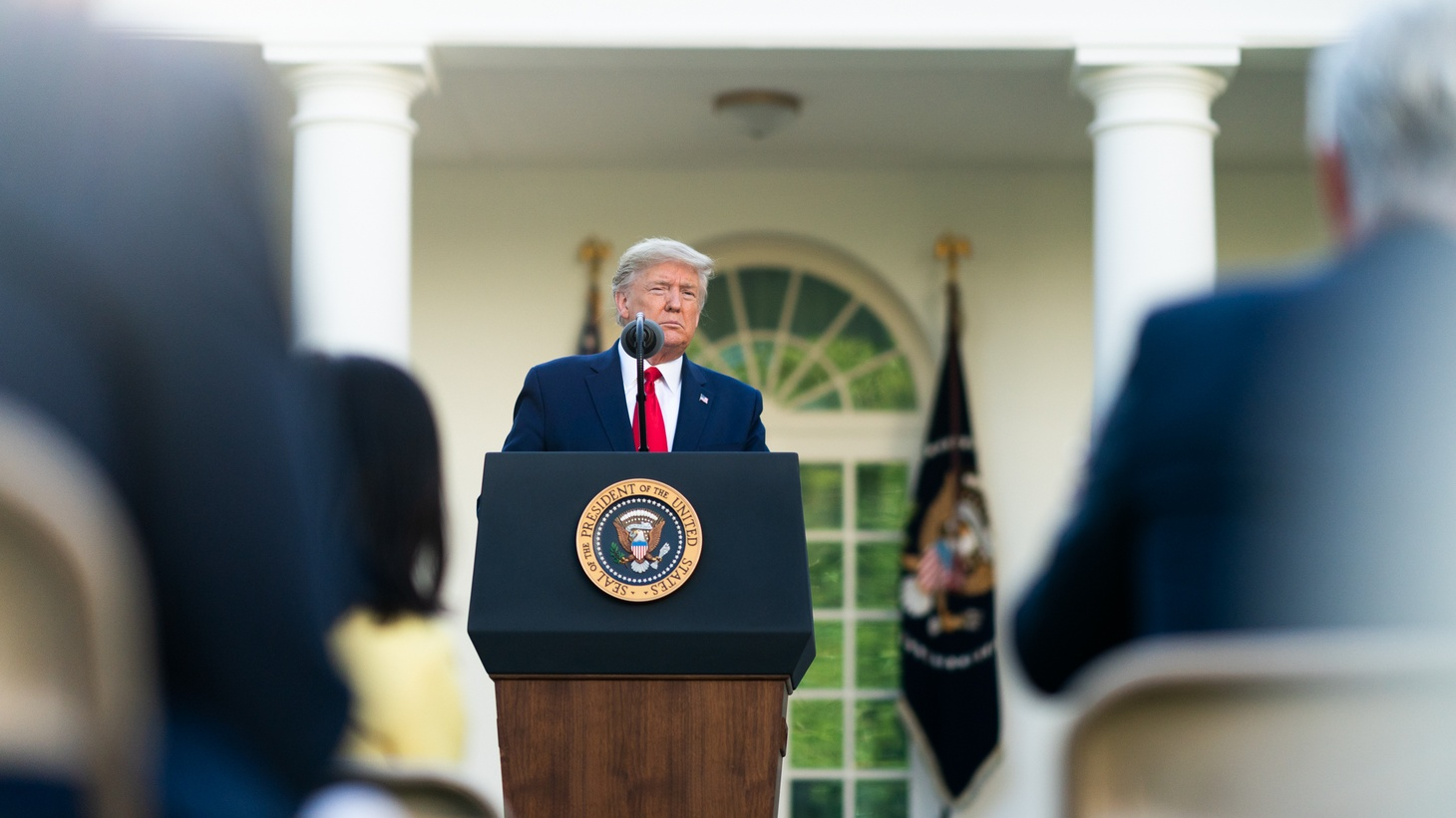 President Donald J. Trump delivers remarks during a coronavirus (COVID-19) update briefing Monday, March 30, 2020, in the Rose Garden at the White House.