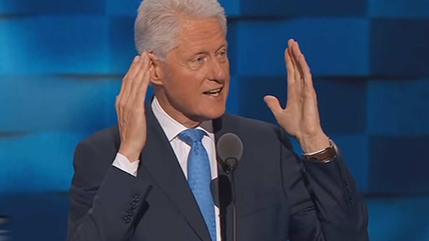 Last night in Philadelphia, Bill Clinton delivered a lengthy list of his wife's accomplishments and accused Trump and other Republicans of creating a false image.
