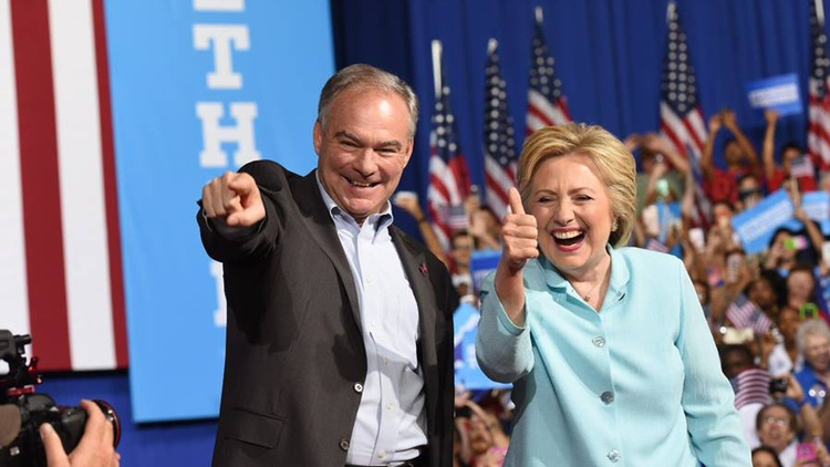 Tim Kaine is the senator from Virginia, and a former governor from that state. He's seen as a centrist, but at heart is a died-in-the-wool liberal.