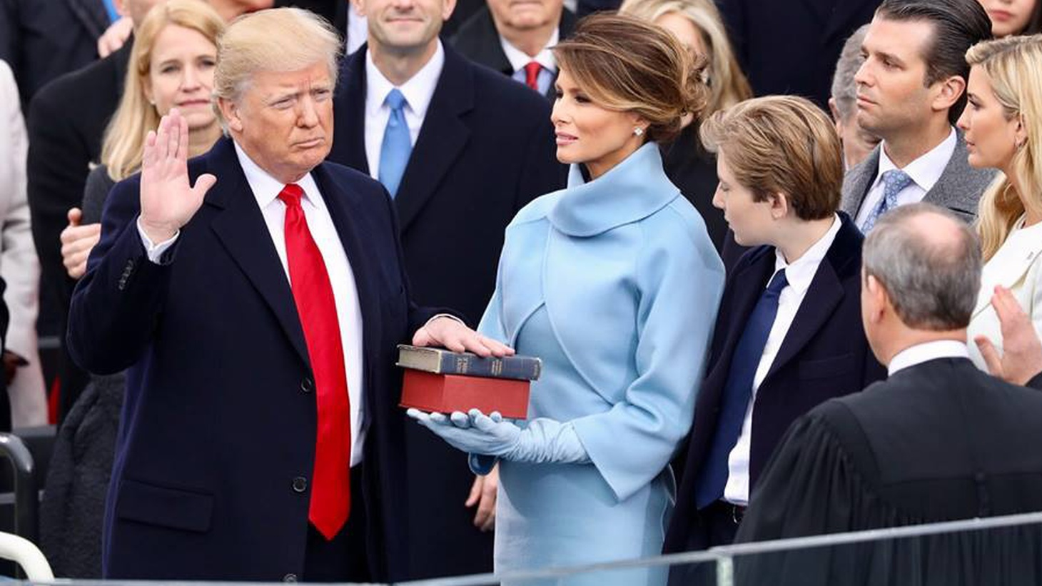 This morning, Donald J. Trump became the 45th President of the United States. His inaugural address began with ringing repetitions of promises familiar from last year's speeches and rallies.
