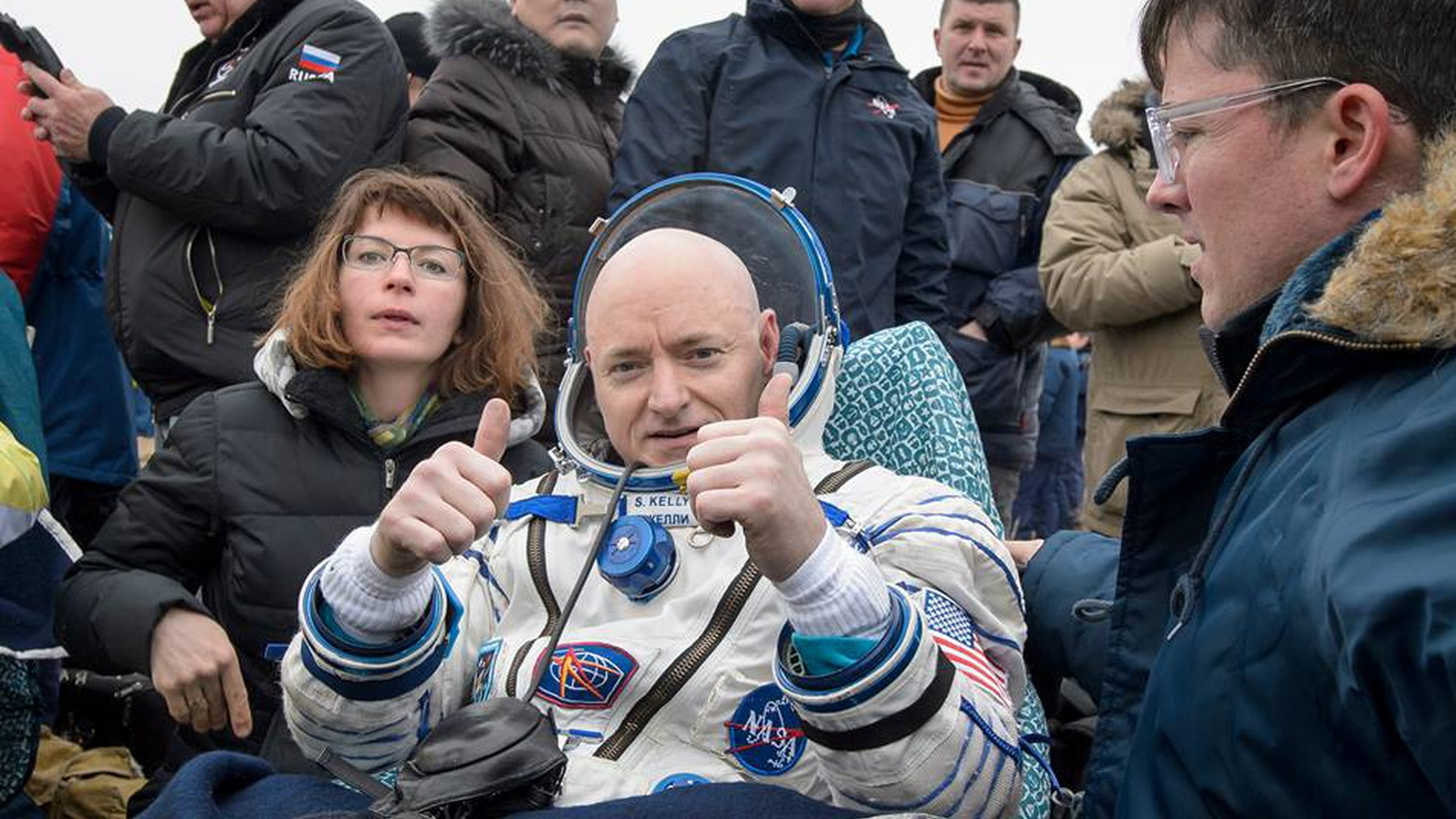 The longest American space voyage ever is now over and scientists are about to swarm over Scott Kelly. When the astronaut touched down yesterday in Kazakhstan, he set a record for the longest spaceflight by an American.