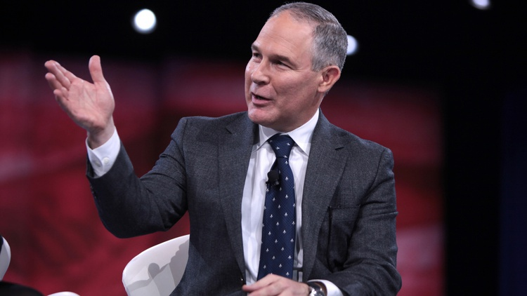 Attorney General Scott Pruitt of Oklahoma speaking at CPAC in National Harbor, Maryland, on March 3, 2016.