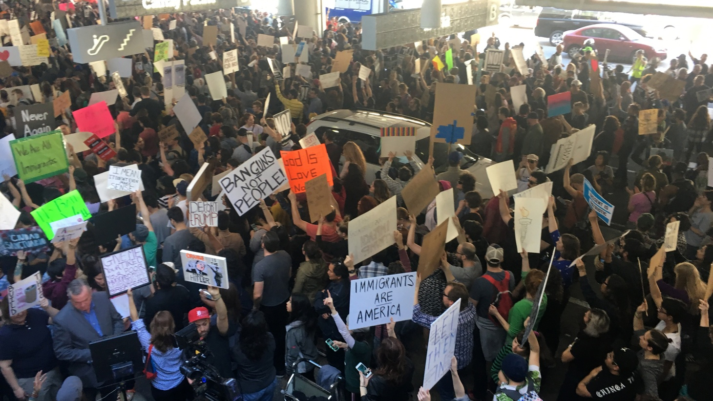 It's been three days since President Trump signed an executive order banning all refugees and restricting travel by immigrants, but the consequences have been fast and far-reaching. Travelers were detained, protests escalated at airports in many US cities, and some top Republicans have criticized the order as too broad. Trump has hit back insisting this is not about religion, just terrorism. Barbara Bogaev guest hosts.