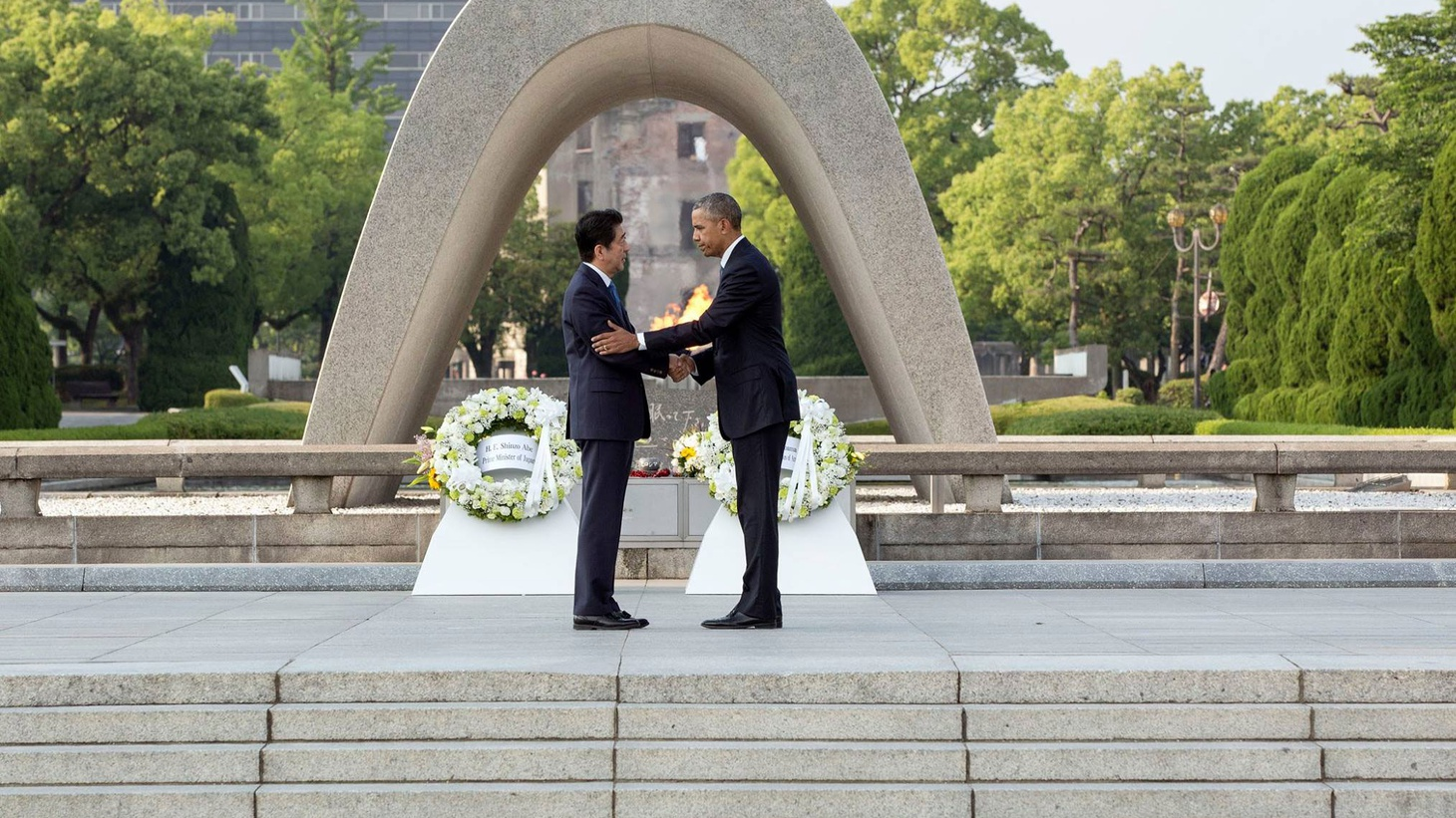 This is the 75th anniversary of Japan's attack on Pearl Harbor, which brought the US into World War II. Later this month, Japanese Prime Minister Shinzo Abe will become the first leader of his country to visit there. Just this past May, Barack Obama was the first US President to visit Hiroshima, the city destroyed by an American nuclear weapon.
