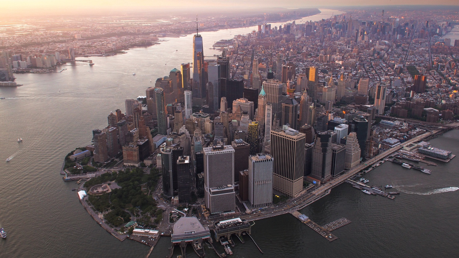 A view of Manhattan, New York City.