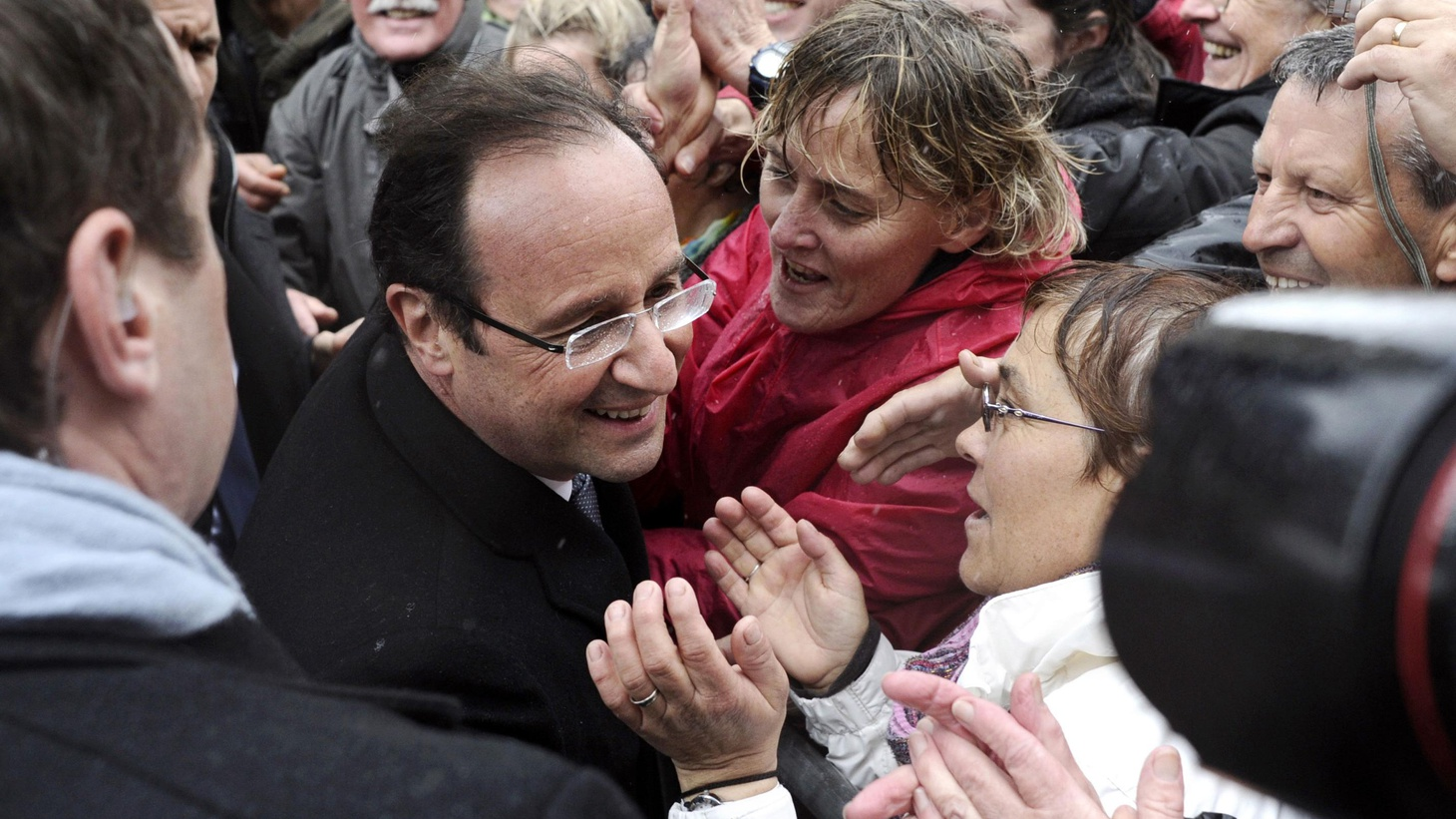 France's field of presidential candidates narrowed to incumbent Nicolas Sarkozy and Socialist Party candidate François Hollande after the first round of voting yesterday.