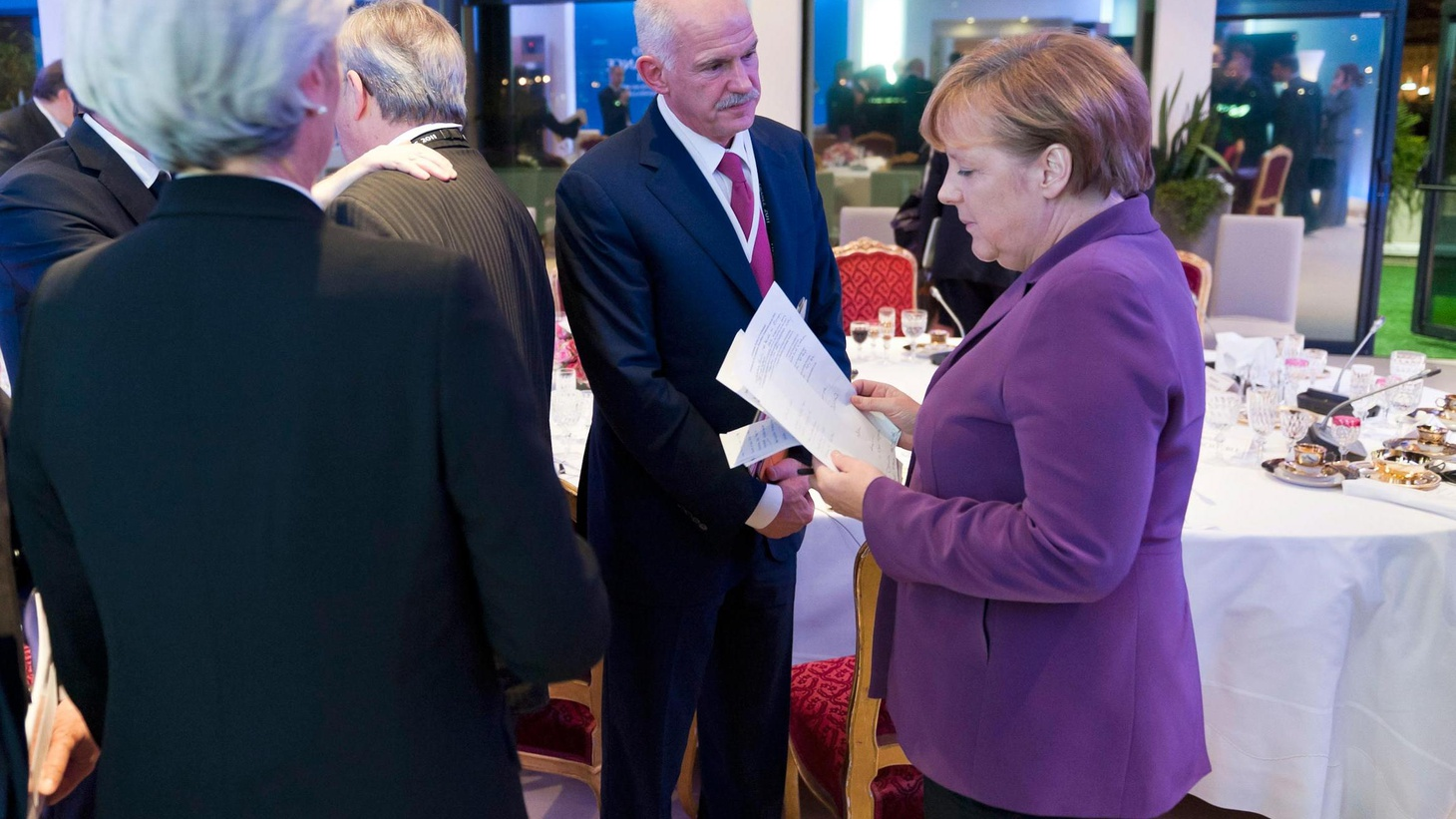 The Greek referendum turned the G-20 Summit into a crisis meeting. Also, bi-partisan demands on the Supercommittee, and the blame game in Republican presidential politics.