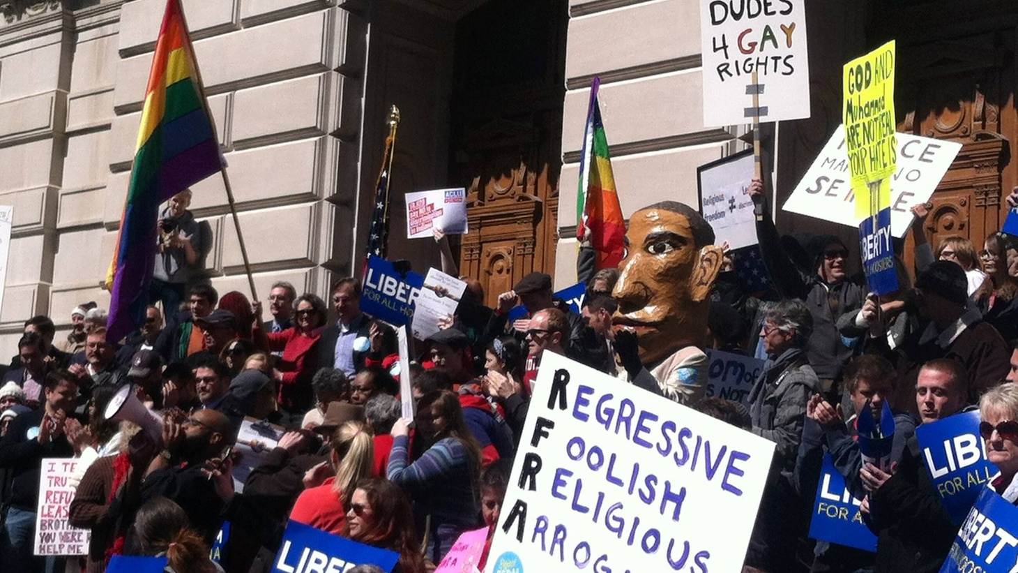 Republicans are fighting among themselves over religious freedom and America's growing tolerance for the rights of gays and lesbians. We hear what that means politically—from new laws in Arkansas and Indiana to next year's presidential campaign.