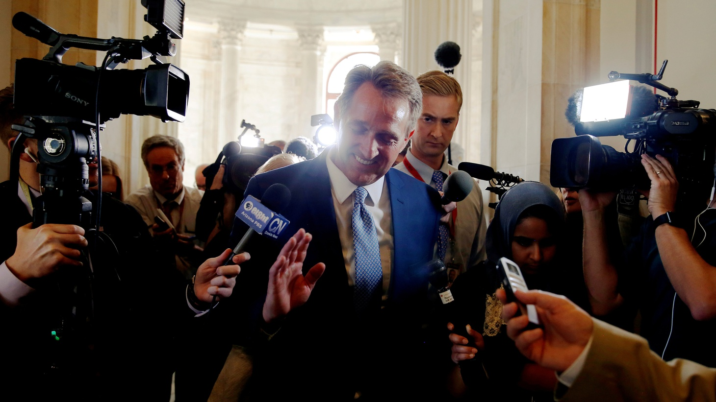 Two Republican Senators — Bob Corker of Tennessee, and now Jeff Flake of Arizona — say they won't run for re-election next year. It's all about what they call President Trump's outrageous behavior. Is the president losing his party, or are the dissidents conceding he's running the show?