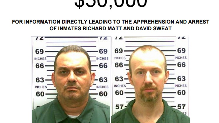 New York State has offered a  $100,000 reward  for two murderers who escaped from Clinton Correctional Facility, a maximum-security prison in upstate New York near the Canadian border.
