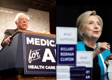 Hillary Clinton and Bernie Sanders jockey for relevance