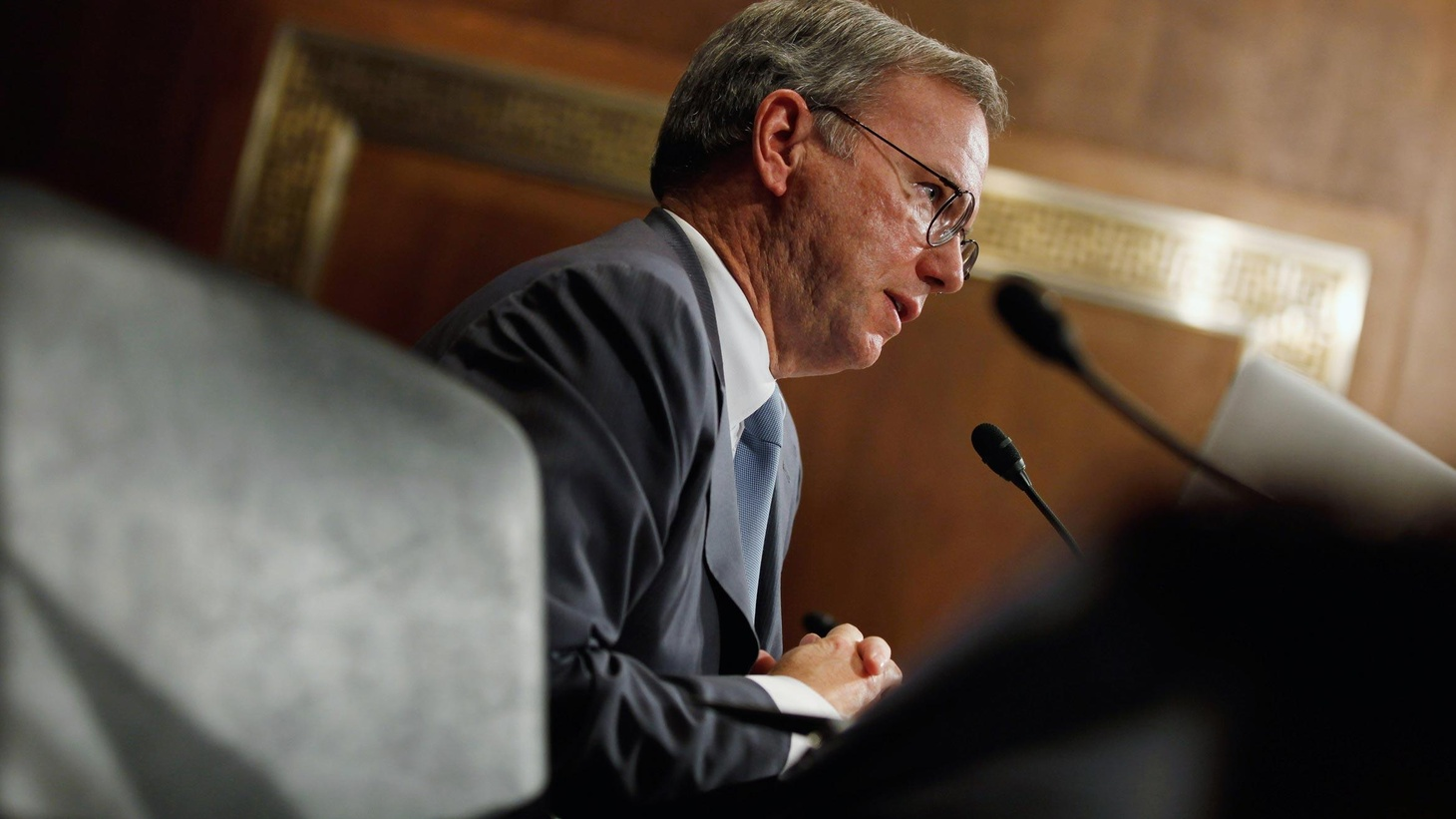 Backed by 25 lobbying and PR firms yesterday, Google's Chairman Eric Schmidt faced a Senate committee, determined not to avoid the mistakes Bill Gates made 13 years ago...