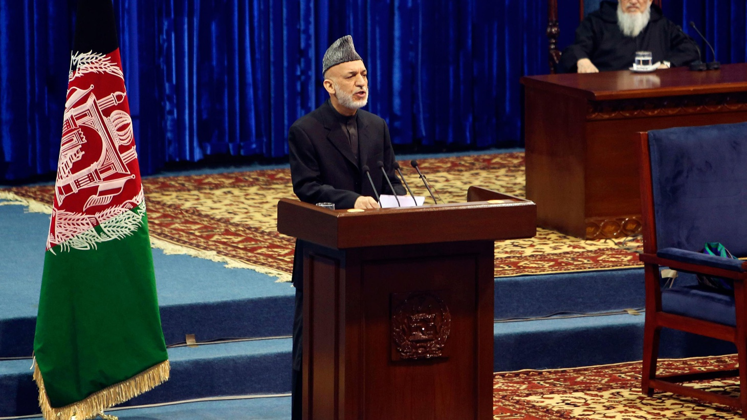 """At today's meeting of elders, Afghan President Karzai said, """"I don't trust the Americans and they don't trust me."""" Has he changed his mind about yesterday's troop deal?"""