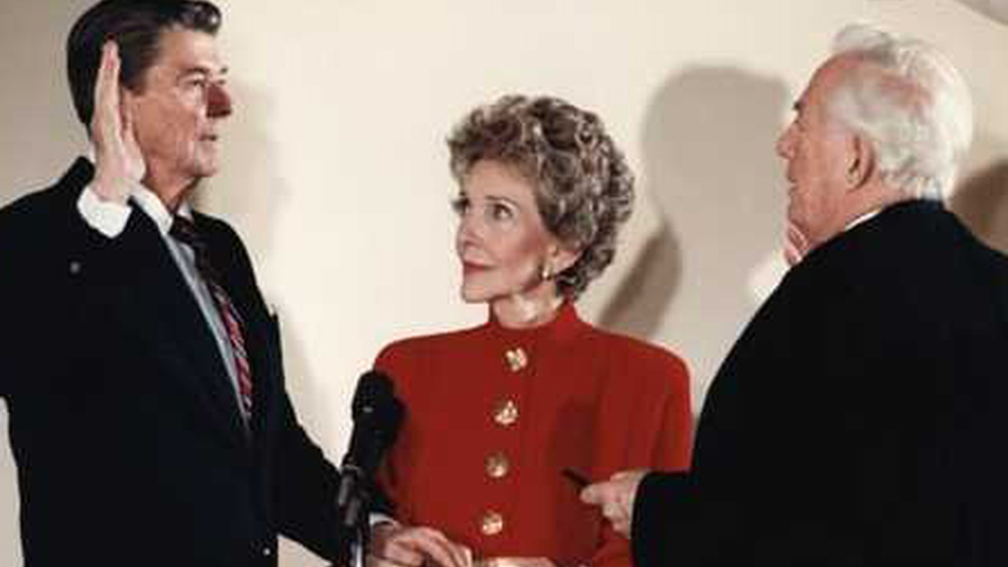 Nancy Reagan — the First Lady at the height of the feminist movement --  died yesterday  at the age of 94. She was famous for her adoring stare at the Hollywood actor who became Governor of California and then President of the United States.