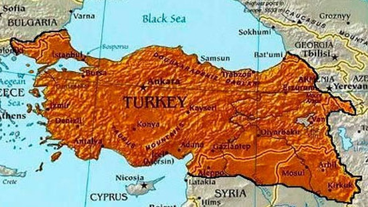 When the Ottoman Empire collapsed after World War I, Turkey did not get all the land it thought it was entitled to.