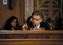 Is Senator Al Franken ready to joke again?