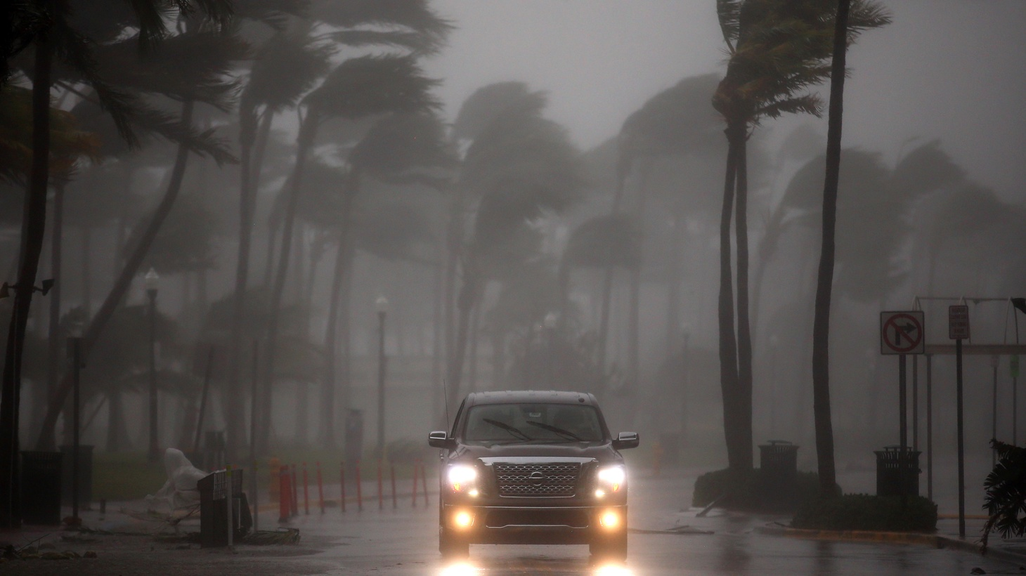 The sun is out in the Florida Keys and massive damage from Irma is all too visible. The storm is still battering Jacksonville and heading Northward. We update the weather as relief efforts get underway.