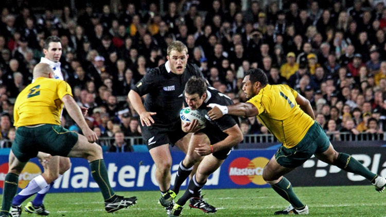 Rugby began in England, but New Zealand will face Australia when the  World Cup  is held in London this weekend.