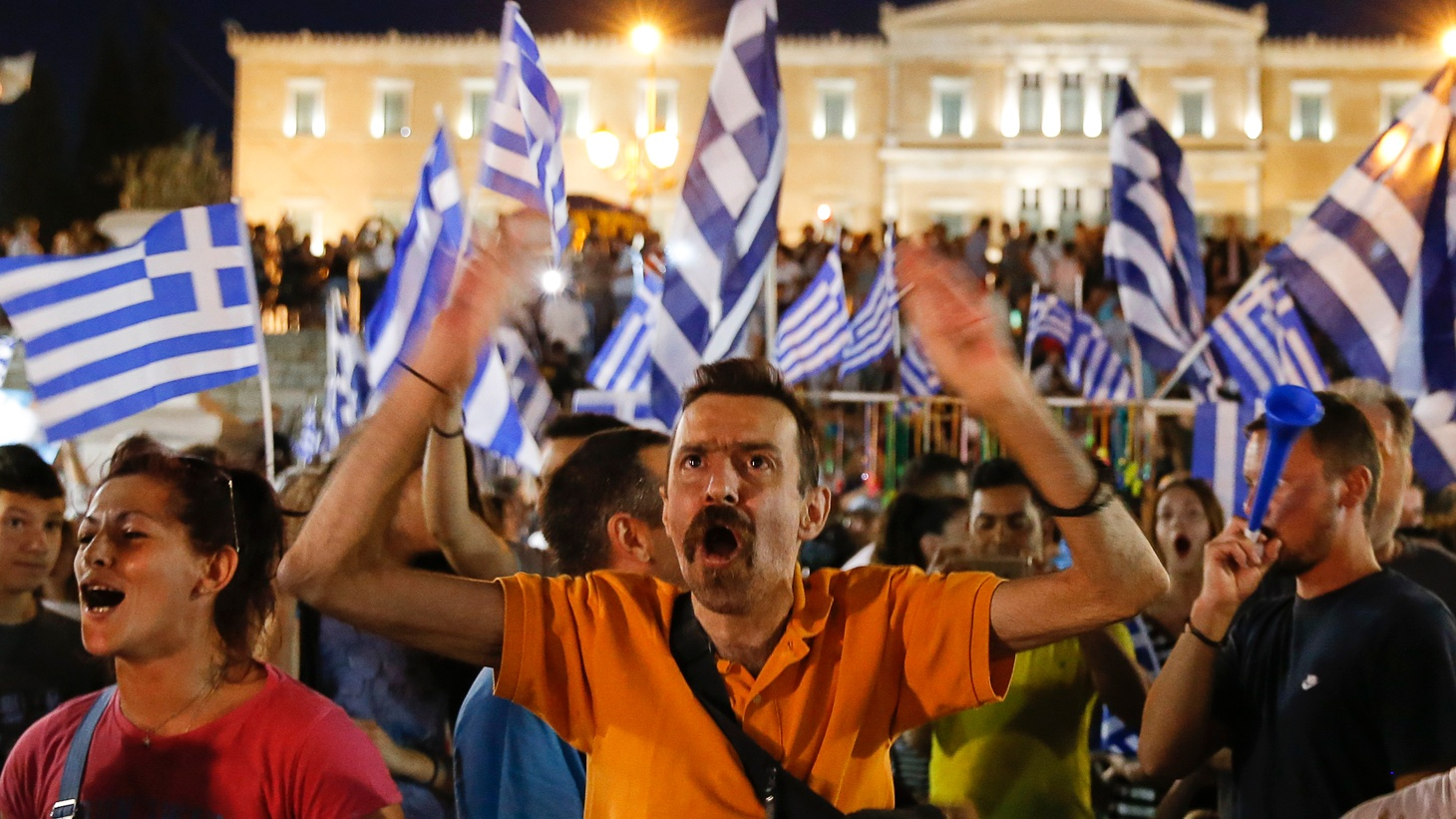 """Yesterday's resounding """"no"""" vote could push Greece out of the Eurozone, but there are signs of conciliation and EU leaders have yet to make any decisions. Was America's largest trading partner prepared for the worst?"""
