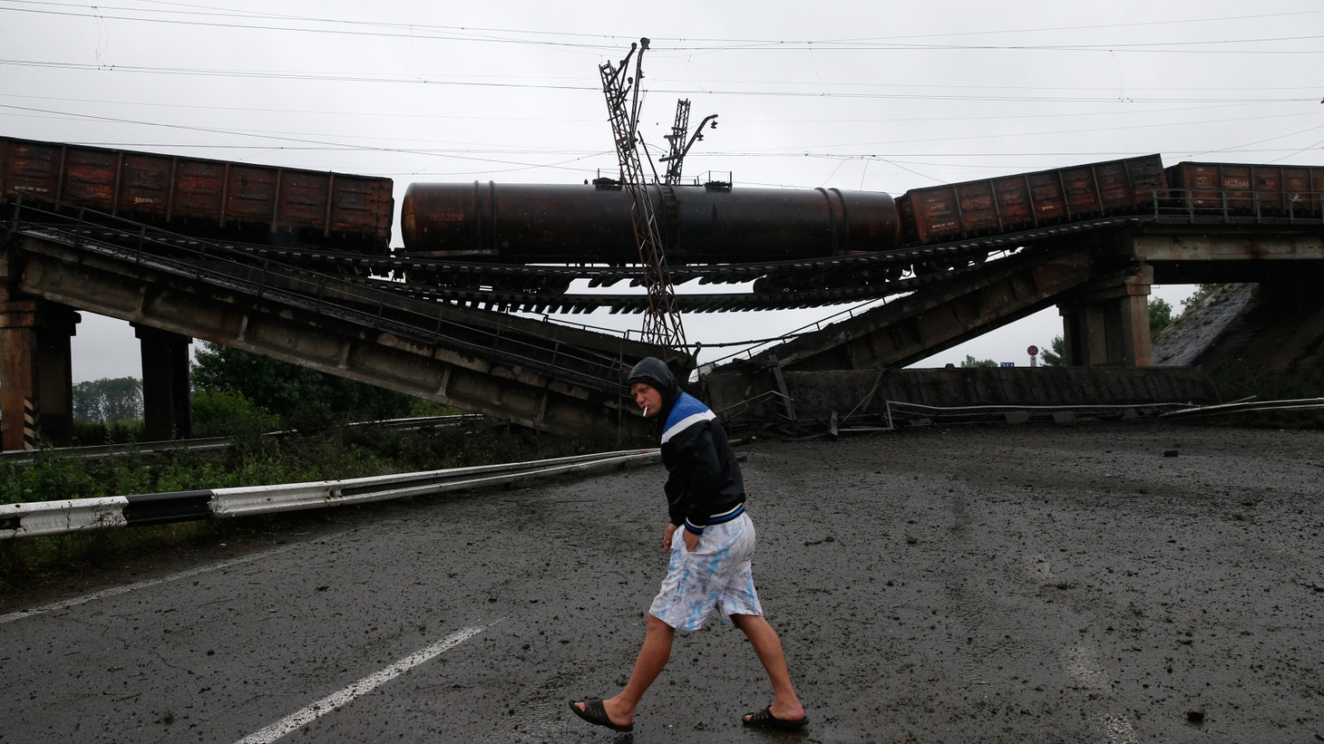 Pro-Russian militants driven out of one Eastern Ukrainian city have bombed three bridges leading into another, where they plan a counter-offensive. They're demanding help against the Ukrainian Army from Russia's President Putin. The world is asking, why hasn't he answered?