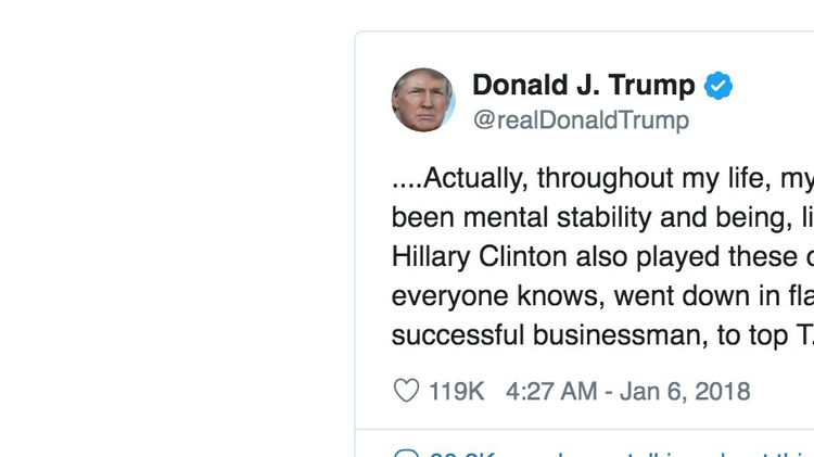 Is President Trump a very stable genius?