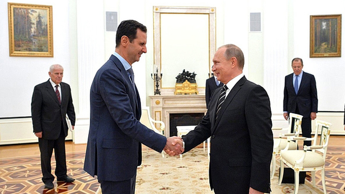 It appears that Syria's President Bashar al-Assad is not staying home anymore because he's afraid of a coup. Yesterday he visited Moscow at the invitation of Vladimir Putin, who has been giving military support to Assad's regime.
