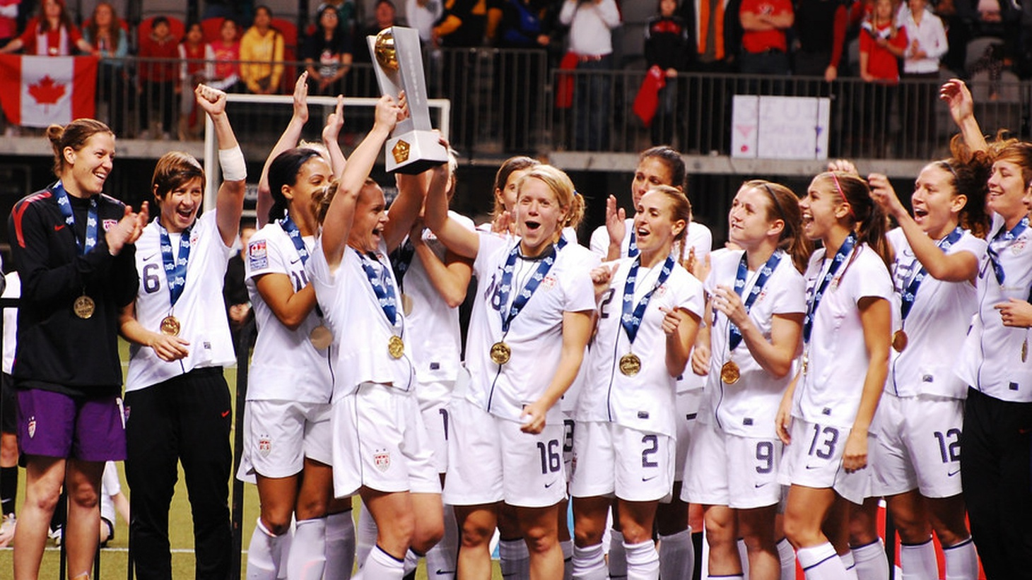 Equal pay for women is required by American law but it's hardly a reality, and the inequity is especially conspicuous when it comes to sports.
