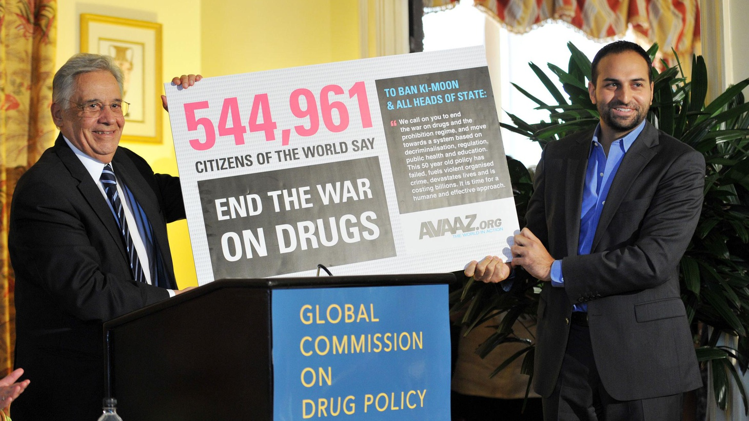 """A high-profile international commission says the """"War on Drugs"""" is an expensive failure, and that drug addiction should be considered a health problem instead of a crime...."""