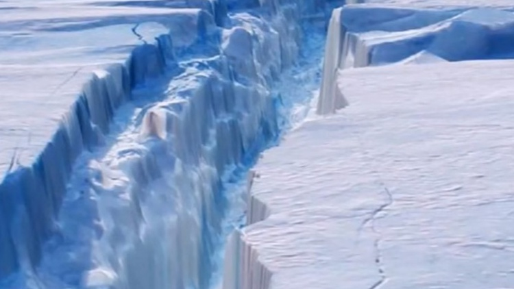 For several years, scientists have been watching a crack 120 miles long on the Antarctic Peninsula. Now it's produced one of the largest icebergs ever recorded.