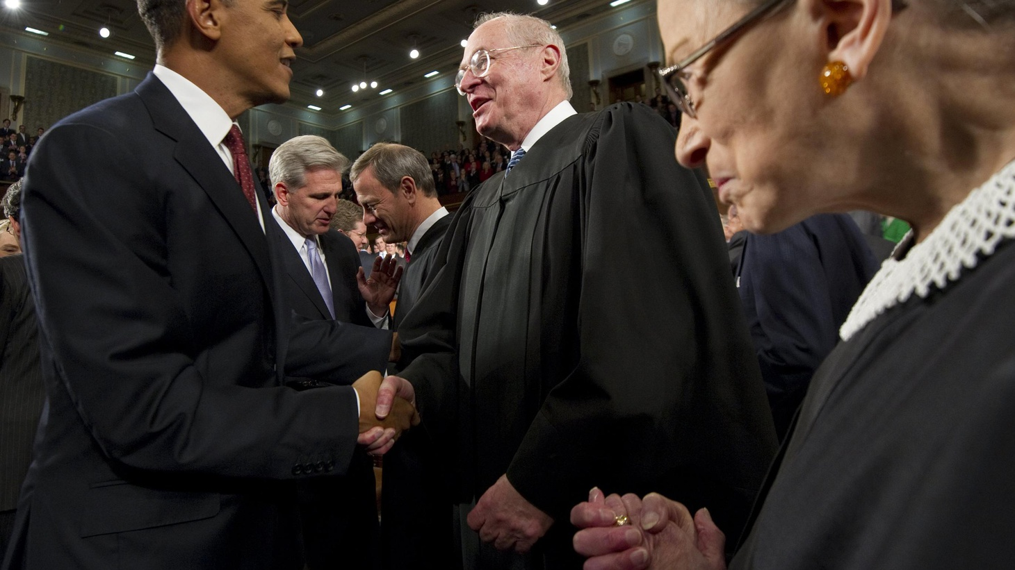 The Supreme Court is about to decide if President Obama's healthcare reform is constitutional. Will liberals and conservatives split and let Justice Kennedy make the call?