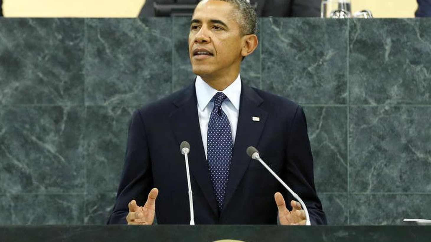 President Obama addressed the UN General Assembly today, promising the US will stay engaged in the Middle East for the rest of his term. We hear conflicting reactions.