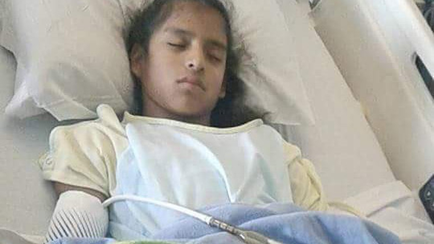 Rosa Maria Hernandez  was brought to this country illegally from Mexico when she was three months old. Now, she's ten and suffers from cerebral palsy.