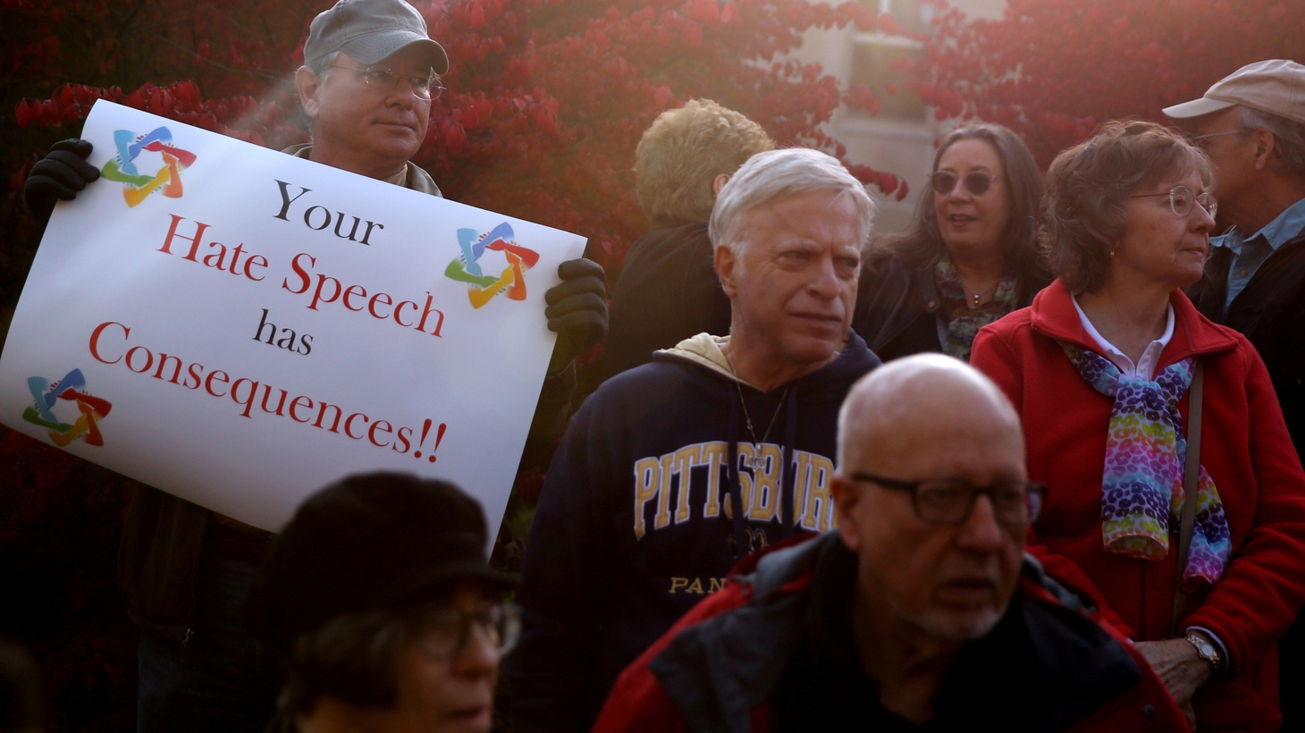 During a visit to Pittsburgh to honor the victims of an anti-Semitic attack, President Trump was met with protests. The president has ridiculed Democrats targeted with pipe bombs and deployed troops against Central American asylum seekers.