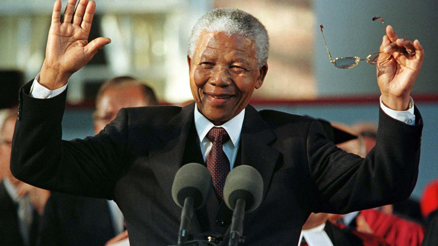"""We remember the life and legacy of Nelson Mandela, who died yesterday at age 95. South Africa's first black president spent 27 years in prison as a suspected """"terrorist."""""""