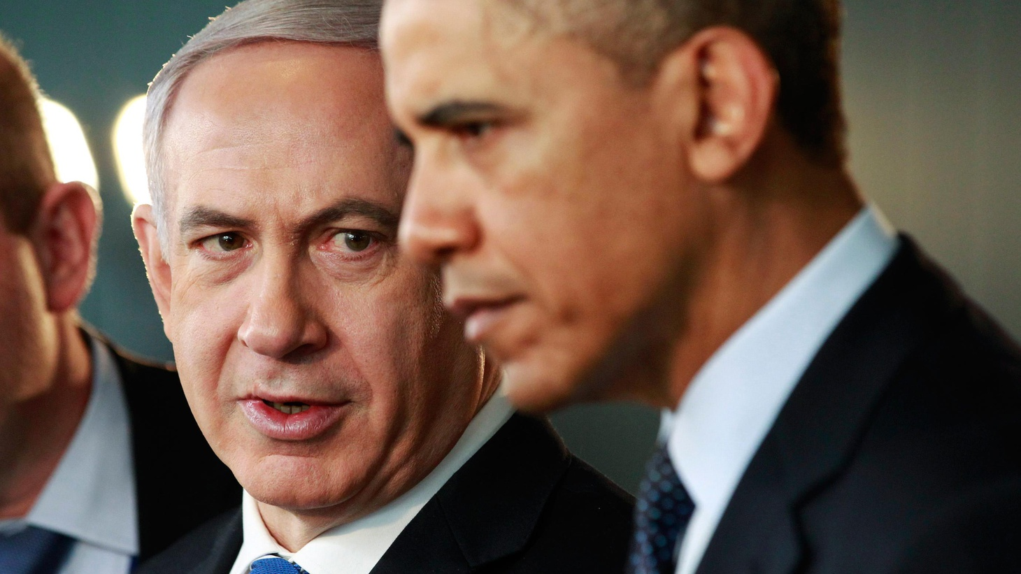 President Obama plunged back into the perils of Middle East diplomacy, backing a Palestinian state while supporting Israel almost without reservation.
