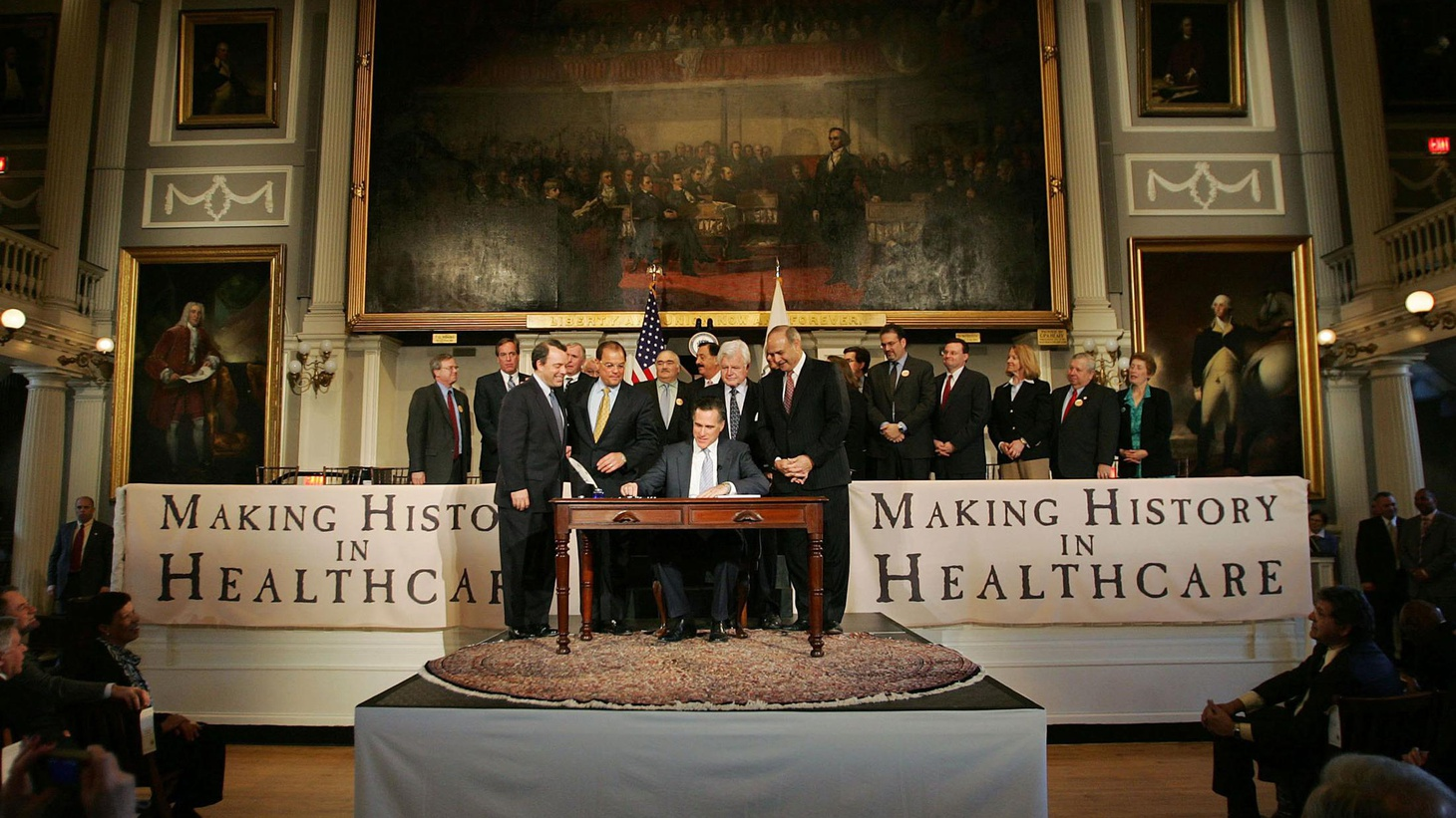 Healthcare reform is being used as a campaign issue against President 