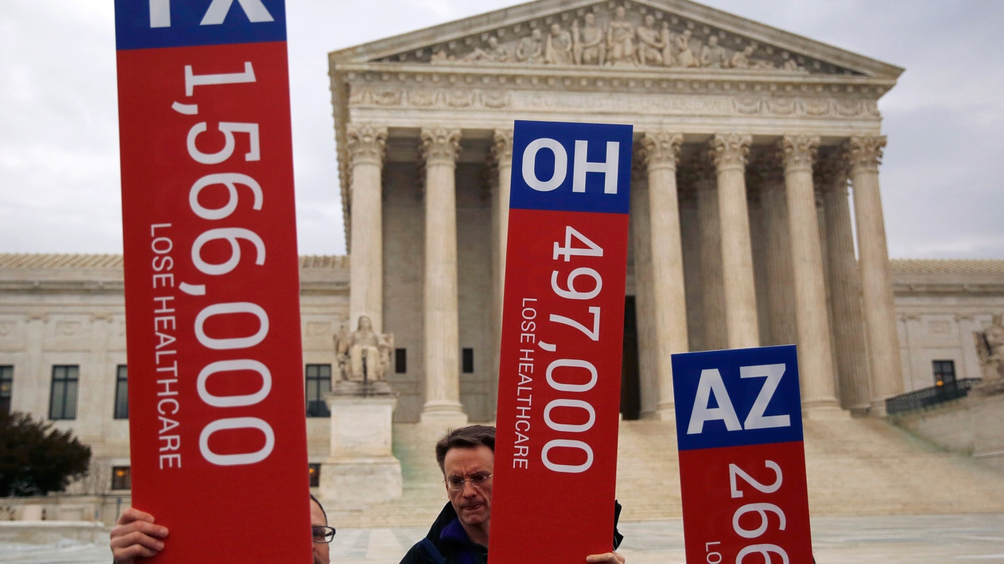 For the third time, the US Supreme Court is considering a challenge to the Affordable Care Act. Federal health insurance subsidies for seven million Americans will depend on how the Justices rule on arguments they heard today.