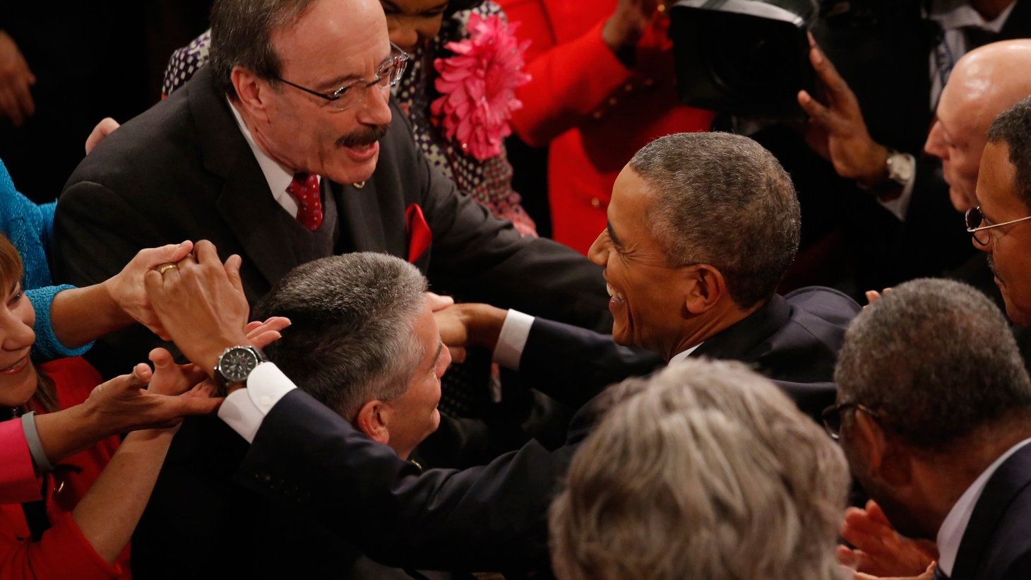 In a relentlessly positive speech last night, President Obama contradicted his Republican critics — but he also took note of widespread fear and uncertainty. We hear more about the State of the Union address and the campaign to elect the next president.