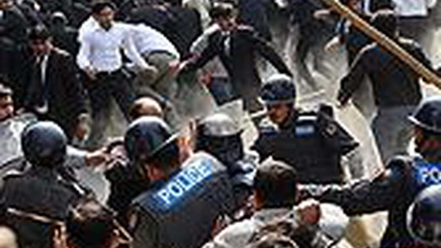 Pakistani police are cracking down on political opposition under President Musharraf 's state of emergency, creating a delicate problem for US diplomacy. Also, television and film writers are on strike in New York and Los Angeles.