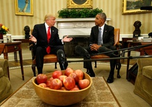 President-elect Trump transitions and meets Obama