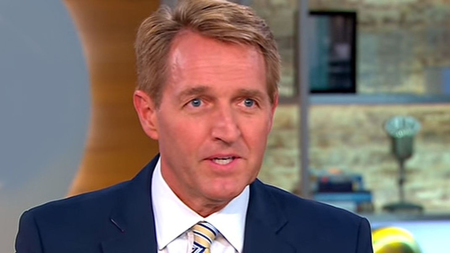 One possible target for President Trump tonight in Phoenix is a US Senator from his own party.       Arizona's Republican US Senator  Jeff Flake  is the perfect model of past Republican figures: a gentlemanly family man who's happy to compromise and work closely with Democrats. He's also a never-Trump Republican who never gave in. Is that a…