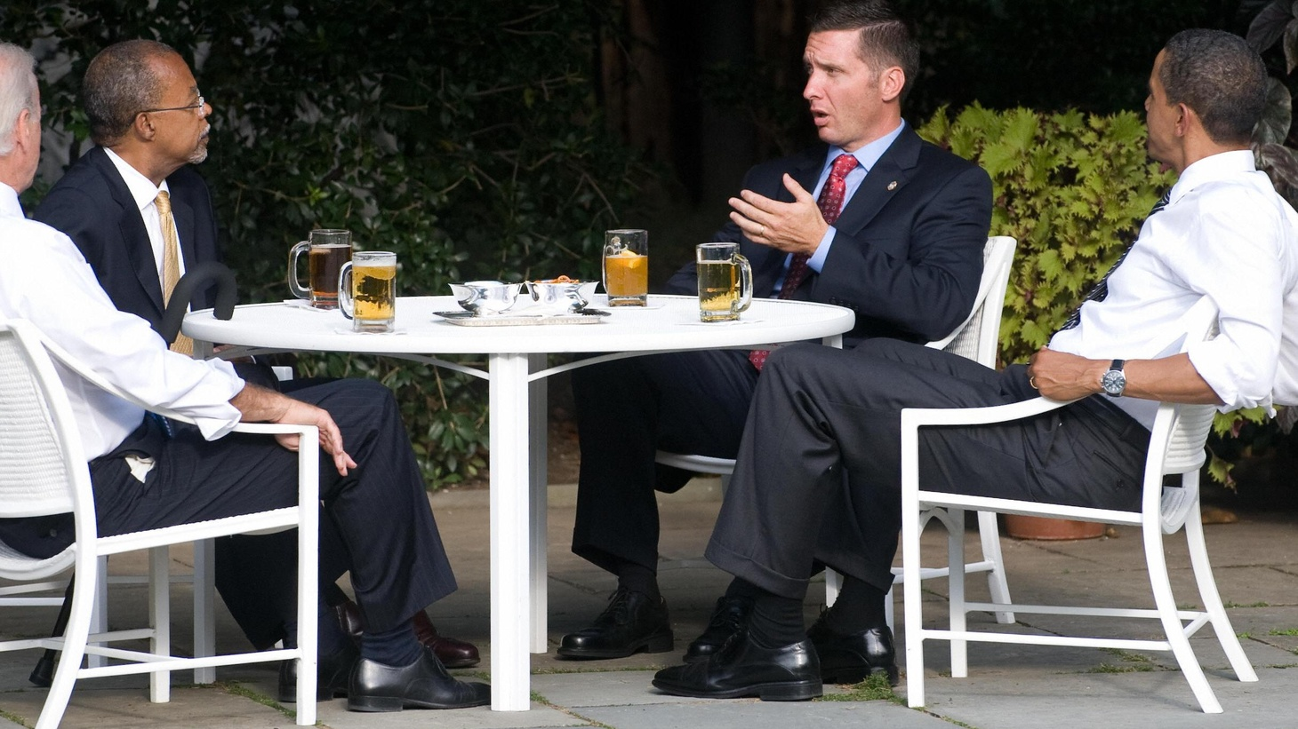 """President Obama brought the policeman and the professor together for some """"conflict resolution"""" last night. What did the """"beer summit"""" accomplish? Is a similar strategy working with Congress? Will it help to achieve the goals of foreign policy? Also, the recession is worse that originally reported, and Congress finds more cash for clunkers."""
