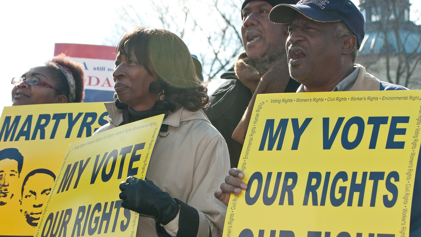 Just months away from primary voting in the next presidential election, the voting rights of blacks and Latinos are the subject of charges and counter-charges.