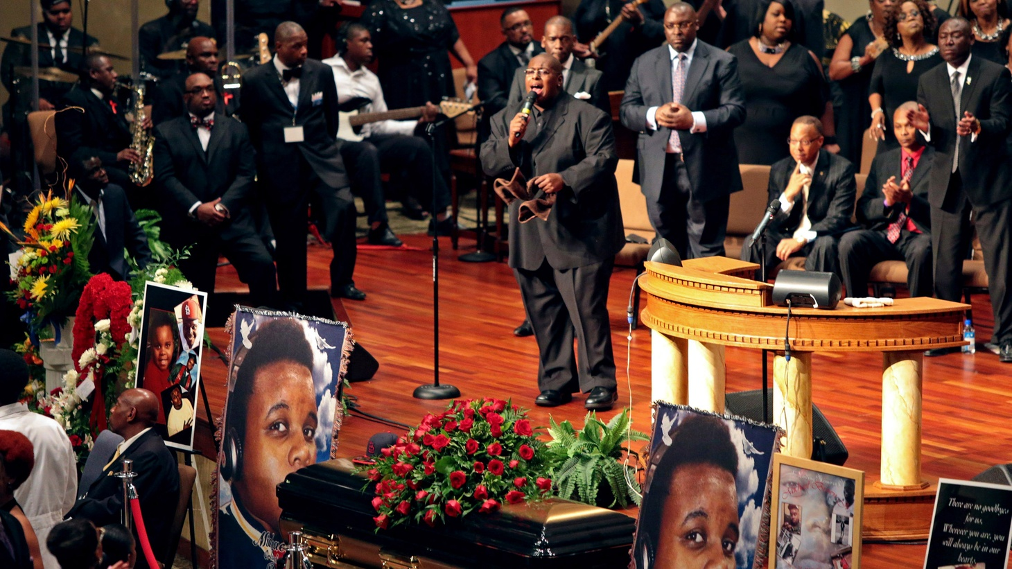 A White House delegation attended today's funeral for Michael Brown, in Ferguson, Missouri.  He was the unarmed, young black man killed 2 weeks ago by a white policeman.  Did the President miss an opportunity by not going himself?